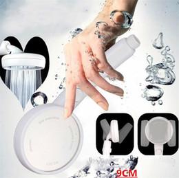 antikes messingtelefon Rabatt Ein Knopf Wasser Stop Drehknopf mit Schalter, Sprinklerkopf mit Druckhaltung und Wasser sparen, Badezimmer Dusche Köpfe Düse I395