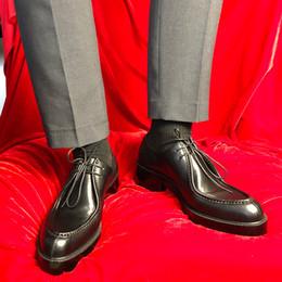 talon épais oxford Promotion Top qualité talon épais chaussures d'affaires formelles hommes Oxford à la main grande taille