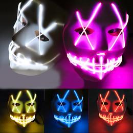 Deutschland LED Halloween Maske EL Draht leuchten leuchtende Maske Maskerade Cosplay Party Festival Weihnachten Prom Maske Versorgung