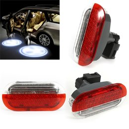 Wholesale red white strobe lights - Car Door Warning Light Red White for 1998-2005 VW Beetle Golf Jetta Polo Car Led Lamp Light Accessories Car Styling AAA299