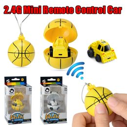 kids toys car battery Coupons - 2.4g Funny Plastic Unisex Mini Soccer   Basketbll Storage Soccer Toy Car Model Remote Control Kids Toys Birthday Gift