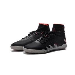 Wholesale Coffee Spring - 2017 Hot Wholesale Neymar JR Soccer Cleats Hypervenom Phantom II TF Boots Coffee Black Soccer Shoes CR7 Indoor Soccer Shoes