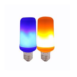 Criativo 3 modos + Sensor de Gravidade Chama Luzes E27 LED Flama Efeito de Incêndio Lâmpada 3 W Cintilação Emulação Decor Lâmpada Bulbo de