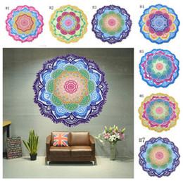 Wholesale Tablecloths Tassels - Indian Mandala Beach Towel Printed Tassel Tapestry Bohemian Serviette Covers Beach Shawl Wrap Yoga Mat Hippy Boho Tablecloth 7 Design A08