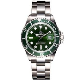 зеленый дайвер смотреть Скидка Full Steel Waterproof Diver Watch Men Quartz Movment Mens Watches Top  Wristwatch Green Male Clock relogio masculino
