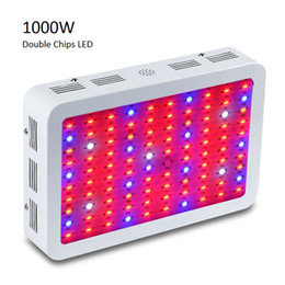 Wholesale Led Garden Flower Lights - Hot Full Spectrum 1000w 1200W LED Grow Light Double Chip Led Plant Lamp Indoor greenhouse growing garden flowering hydroponic UV IR lights