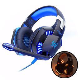 EACH G2000 Gaming Casques Ordinateur Stéréo Sur-Oreille Basse Profonde Jeu Écouteurs Casque Bandeau Écouteurs avec Micro LED Lumière pour PC LOL Gamer ? partir de fabricateur
