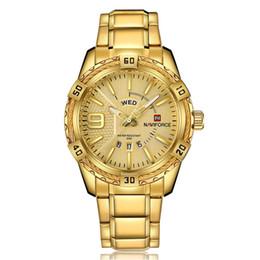 Canada NAVIFORCE Original De Bonne Qualité Sport Étanche En Acier Inoxydable bande LED Semaine Date Montre-Bracelet 9117 cheap naviforce watches Offre