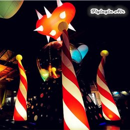 Wholesale Outdoor Inflatables Christmas Decorations - Christmas Decorations Inflatable Cone Light Outdoor Led Street Lights For Festival Party And Night Club Stage