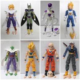 Wholesale crazy figures - Dragon Ball Figures Toy 12cm Action Figures Crazy Party PVC Dragon ball Joint mobility Figures Best Toy Gift 8pcs lot HHA33