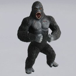 giocattoli animali solidi Sconti Wild Animal Orangutan Model Toys Simulazione Solid Chimpanzee Action Figure King Kong Cartoon Garage Kit Ornament Toy 23 52xd WW