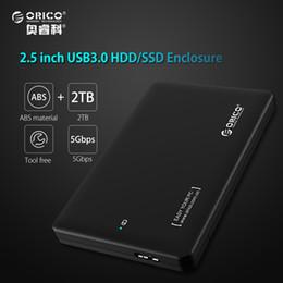 hdd grátis Desconto ORICO 2 TB hdd rack ferramenta livre USB 3.0 para sata 3.0 caixa hdd ssd 2.5 7mm 9.5mm Caso de Disco Rígido Externo para notebook (só Caso)