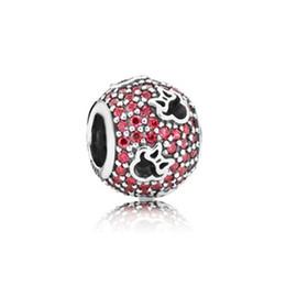 perlas de ojos de gatos morados Rebajas WinTion PAN 100% S925 plata esterlina 2018 a estrenar genuina pulsera de abalorios, glamour original zircon rojo regalo femenino