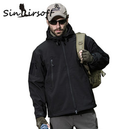 Wholesale Camouflage Waterproof Hunting Jacket - Wholesale-Sinairsoft Softshell Jacket Men Tactical Jackets Outdoor Waterproof Sports Camouflage Hunting Camping Hiking Fleece Jackets