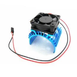 Wholesale Fan Parts - 1:10 RC Rock Crawler 1 10 Model car 540 motor Cooling Fan 3660 3650 motor heatsink radiator