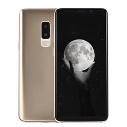 Pantalla de 16 pulgadas online-Huella digital Goophone S9 + Plus Clone 1 GB 16 GB ID de rostro 3G WCDMA Quad Core MTK6580 Android 7.0 6.2 pulgadas Pantalla completa 13MP Cámara GPS Teléfono inteligente