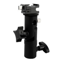 Suporte ajustável do suporte do flash da sapata de Speedlite do guarda-chuva ajustável para o tripé para a câmera de DSLR de