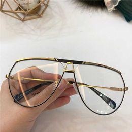 d15f4346316 double frame Promo Codes - New fashion designer fashion optical glasses  9953 pilot frame popular style