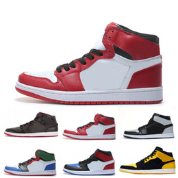 de2732f604618b Top 1 OG mens Classic Basketball Shoes Mandarin duck black red white men  basketball boots athletic trainers sneakers size 40-47