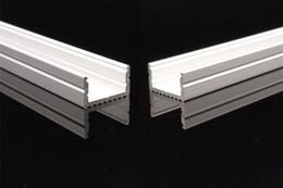 Montaggio a strisce guidato online-25 set / lotto 2.0 m Copriobiettivo può essere concentrato fascio LED Profilo in alluminio per Bar Light LED Light Strip Mounting Channel