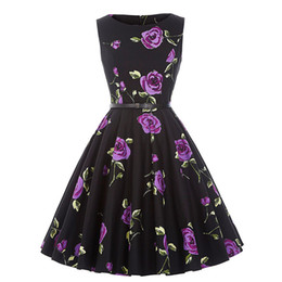Wholesale Fit Ball Mini - 2018 fashion Pearl Embellished Party Dress Zip Fit & Flare Women Black 3 4 Sleeve Skater Dresses 2017 Elegant Mini Dress