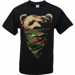 Wholesale camouflage graphics - Best Graphic T Shirts Men's Ovc California Camouflage Bandana Bear Mens T Shirt Crew Neck Cotton Short Sleeve Shirts
