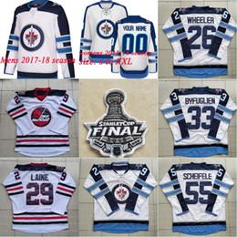 Wholesale Cupping Marks - Patrik Laine WPJ Winnipeg Jets Jersey Stiched 2018 Stanley Cup Final Patch Blake Wheeler Dustin Mark Scheifele Hellebuyck Whiteout Gear
