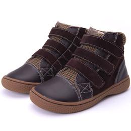 Kinder Schuhe 2018 Frühling Herbst Jungen grils Stiefeletten Leder Kinder braun kurze Stiefel Sport Sneakers flache Kleinkind Schuhe 25-30 von Fabrikanten
