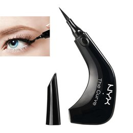 Wholesale queen singles - NYX The Curve Liquid Eyeliner Beauty Meets Function High Quality Waterproof Cosmetics Party Queen Eye Makeup Eyeliner 0.4ml