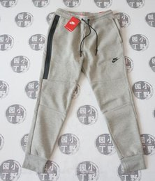 Wholesale Camouflage Trousers - NK TECH FLEECE CAMO pants, men's Space Cotton foot trousers, air layer cotton camouflage sports pants