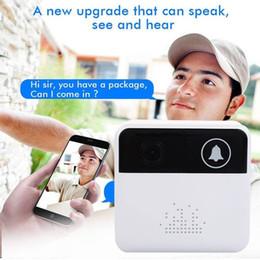 Инфракрасная мобильная камера онлайн-Смарт-беспроводной кольцо дверной звонок WiFi визуальная камера телефон двери дома монитор безопасности ночного видения свет sens инфракрасный мобильное приложение 720P