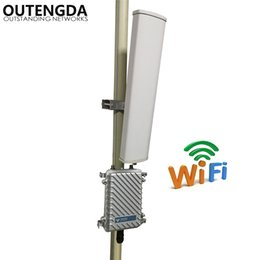 Wholesale Outdoor Range - Long Range 400meters Wifi Signal Amplifier Extender 2.4GHz 300Mbs Wireless Router Outdoor AP WiFi Hotspot Base Station with 14dbi ANT