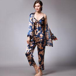 2019 donne di seta pigiama di seta Boutique da donna Morbida seta  imitazione Sleep Pajamas lady 3b509ba37