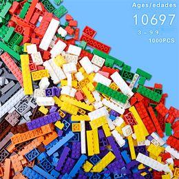Wholesale Bulk Plastic Toys - 1000pcs lot DIY Bulk Building Blocks 14 Types 10 Colors Building Bricks Construction Brick Building Blocks Toys for Kids OTH869