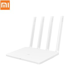 freischaltete mobile hotspot 4g Rabatt Xiaomi Mi WiFi Router 3 1167 Mbps 2,4 GHz 5 GHz Dual Band 128 MB Flash ROM mit 4 Antennen 802.11ac Dual Band MiWiFi APP Control
