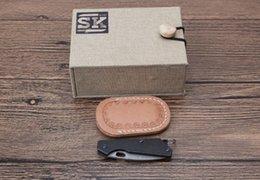 Wholesale Miniature Keys - Miniature advancer Damascus titanium alloy handle key buckle kn 56HRC Outdoor Camping Hiking Hunting Survival Pocket Knife Army Military EDC