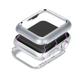 Argentina Caja protectora magnética Marco de metal de aluminio Cubierta protectora de la aleación para las bandas de reloj de Apple Serie de reloj 2 3 4 Caso de imán incorporado Suministro
