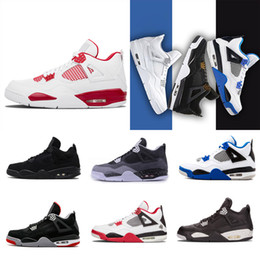 Wholesale Stealth Shoes - 2018 hot sales Basketball Shoes 4 FEAR PACK White Black Stealth Oreo Toro Bravo Cement Grey Fashione Athletics Sneakers size 8-13