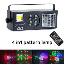 farfalla professionale Sconti Dj Equipment 4 in1 Laser Flash Strobe Pattern Butterfly Derby DMX512 Illuminazione a LED DJ da discoteca Luce da palco Quattro funzioni lightting Effect