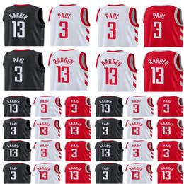 Wholesale 13 Basketball Jersey - Men's 2017-18 New 13 Harden jersey 3 Chris Paul Swingman jersey Harden Paul Stitched jerseys Free Shipping