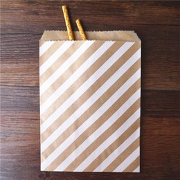 Wholesale Paper Treat Bag - 50pcs  Lot treat candy bag high quality Party Favor Paper Bags Chevron Polka Dot Stripe Printed Paper craft Bags Bakery Bags