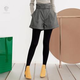 bdc71c103a0 2019 недорогая модная одежда FANSILANEN 2018 Новое прибытие мода осень    зима женщин шерсти шерстяные шорты