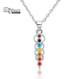 ca2dfb1da6af collar negro del collar del cristal Rebajas Mi forma 7 Collar de metal de cristal  Pilar