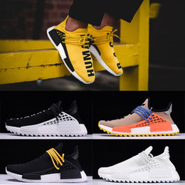 Wholesale Real Lawn - 2018 Wholesale Human Race NMD Factory Real Boost Yellow Red Black Orange NMD Men Pharrell Williams X Human Race NMD Running Shoes Sneakers