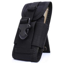 bolsa de teléfono celular táctica Rebajas OneTigris MOLLE Tactical teléfono celular teléfono inteligente bolsa iPhone 4 5 SE Samsung HTC Nylon teléfono móvil bolsa