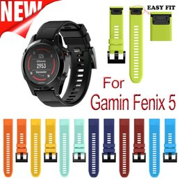 Wholesale Forerunner Garmin - Watchband Strap for Garmin Fenix 5 5X 5S Easy Fit Replacement Band for forerunner 935 GPS Watch Silicone Easyfit WristBand