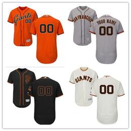 Wholesale Giant Xxl - Custom Men's Majestic San Francisco Giants #00 name and number Orange Black White Gray Authentic Baseball Jerseys