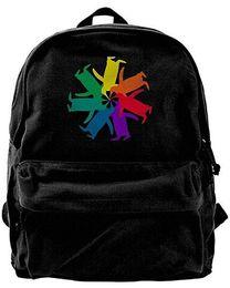 00850de1cd14 Penguin Color Wheel For Men   Women Fashion Canvas Backpack Travel bag  School bag rucksack duffle bags designer handbags