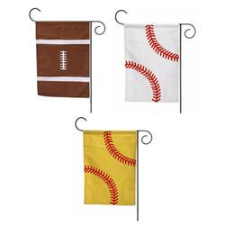 2019 ленточные баннеры 2018 5 стили 35*45 см Спорт Бейсбол Softaball сад флаг холст открытый флаг висит украшение баннер флаги
