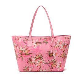 Wholesale two tone flower wholesale - Pink sugao 2018 new style print large capacity pu leather purses and handbags luxury tote bag shoulder bags